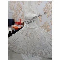 Party Wear Semi-Stitched Gotta Patti Work Chikankari Pure Georgette Designer Lehenga