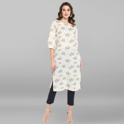 White Pure Cotton Kurta(JNE3442)