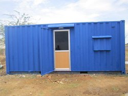 Blue Portable Site Office Cabin