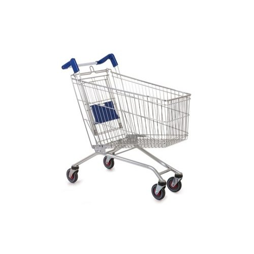 SS Global Stainless Steel Shopping Trolley, For Supermarket