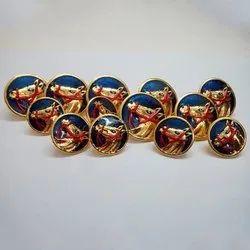 金属圆形民族佩戴按钮,服装,包装类型:包
