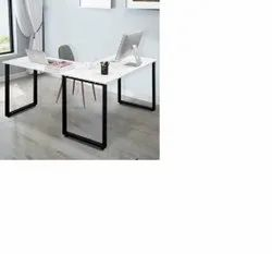 Metal Steel Office Table, Block With White