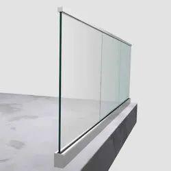 Aluminum Frame Glass Railing
