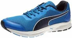 Blue Puma Running Lace up Sports Shoes for Men