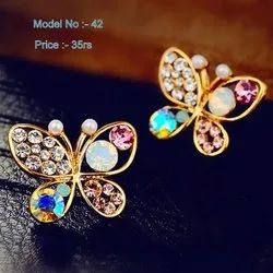 Golden Butterfly Stud Earring