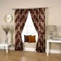 Eyelet Caligraphic Coffee Curtain