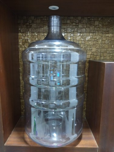 Natural,Blue And Natural Plastic Mineral Water Jar Bottle, Capacity: 20 Ltr