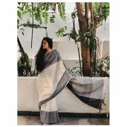 Siddhivinayak Handloom Ladies Plain Khadi Cotton Sarees, Packaging Type: Poly Bag, 6.3 m (with blouse piece)