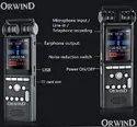 Grey Digital Voice Recorder For Audio Recording