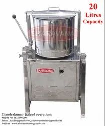 20 Litres Capacity Commercial Tilting Wet Grinder Light Box Type