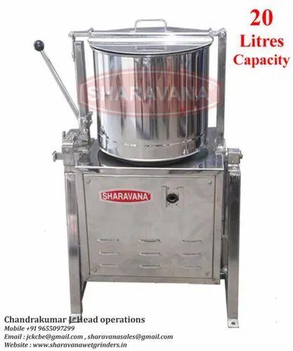 20 Litres Capacity Commercial Tilting Wet Grinder Light Box Type