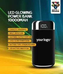 Travel Black Gleam Glow Powerbank mobile charger, For Charging