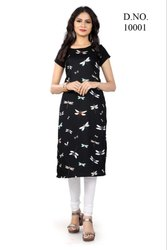 DIGITAL PRINTED CRAPE KURTIS