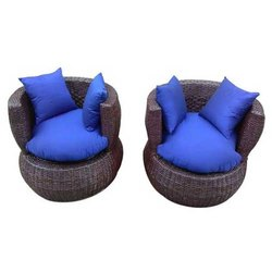 Universal Furniture Bamboo Lotus 2 Sofa Chair Set with Cushion