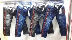 Party Wear Faded Kids Denim Jeans, Age Group: 1 Year To 14 Year