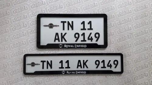 Registration Reflective Sheet Bike Number Plate Design For