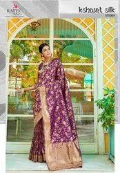 Designer Rajtex Banarasi Silk Saree, Length: 6.3 m with Blouse Piece