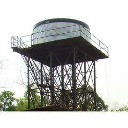 Water Storage Tank On Elevated Platform