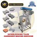 Interlocking tiles hardener making machine