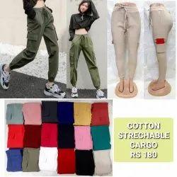 Ladies Cargo Pant, Women Cotton Lam Lam Pant, Cotton Cargo Pant