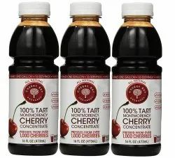 Cherry Bay Organic Bottle Tart Cherries Fruit Juice, Packaging Size: 473ml