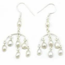 Pearl 925 Sterling Silver Earrings