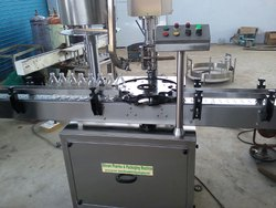AUTOMATIC  PESTICIDE BOTTLE CAPPING  MACHINE