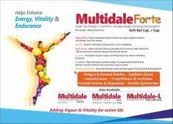 Multidale Forte- Green Tea Extract  L-Carnitine Gingkko Biloba Ginseng  Antioxident   Minerals  Mult