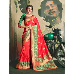 Jacquard Silk Saree
