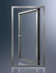 Aluminium Polished Office Aluminum Door, Single, Thickness: 12 Mm (glass Thickness)