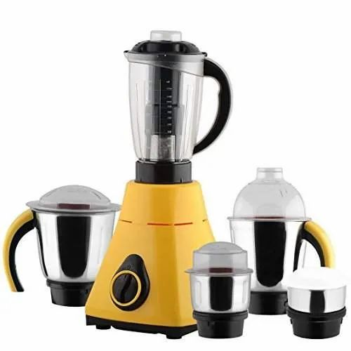 Yellow And Black Juicer Mixer Grinder, for Kitchen, 501 W - 750 W