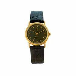 Saint Mens Leather Strap Analog Wrist Watch