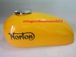 New Norton Hi-Rider Yellow Painted Steeal Gas Fuel Petrol Tank With Fuel Cap (Reproduction)