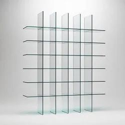 Free Standing Glass Shelving Rack
