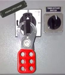 Multicolor Steel Lockout Hasp 25 mm Red, Electrical Purpose