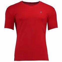 Woodland V Neck Men''s Plain T-Shirt