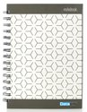5 Subject Single Ruled Tessilation Paper Soft Cover Wiro Notebook - B5 Size, 160 Pages