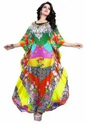Multi Color Printed Long Kaftan (JK3977)