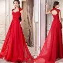 Ladies Plain Chiffon Gown