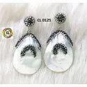Cl Code Fancy Elegant Statement Designer Fresh Water Pearl Baroque Fashion Jewellery Earrings
