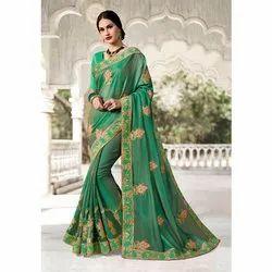 Pure Silk Heavy Green Saree
