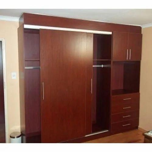 Modern Teak Wood Polishing Designer Bedroom Cupboard for Hotel