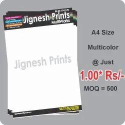 Multicolor Paper Color Printout Services, Digital