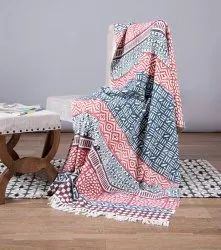 Multi Colour Cotton Mud Cloth New Designer Sofa Throw