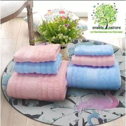 Enable Nature Multicolor Ultrasoft Bamboo Towel Set, 550-650 GSM, Size: 75*150 Cm