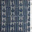 Indigo Hand Block Printed Fabric 100% Cotton Printed Fabric Jaipuri Printed Cotton Fabric