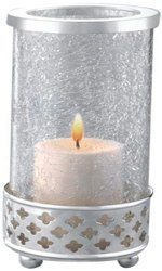 8.2cm, Silver Borosil Sparkle Tea Light