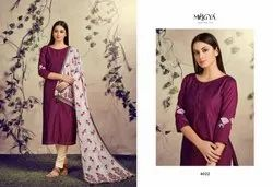 Magenta Ethnic Kurti with Dupatta