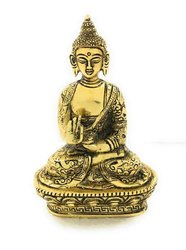 Bharat Handicrafts Aluminium Gold Plated Lord Buddha Idol, Size/Dimension: 7.25''x4.5''