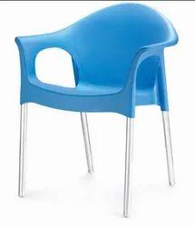 Blue Plastic Novella 09 Chairs, For Restaurant